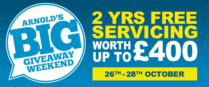 2 Years Free Servicing Worth Up To £400. 26th - 28th October