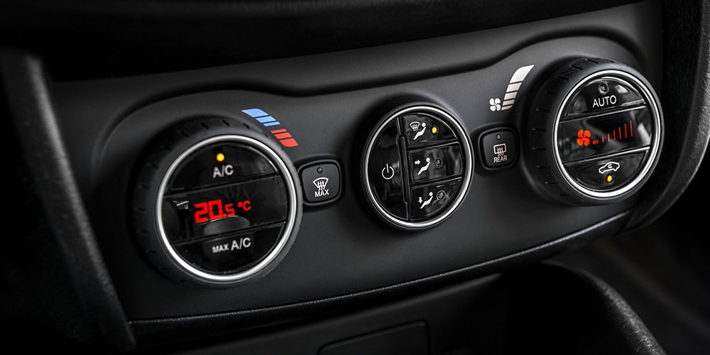 controls of the air conditioning in the fiat tipo