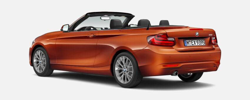 BMW 2 Series car in Valencia Orange colour