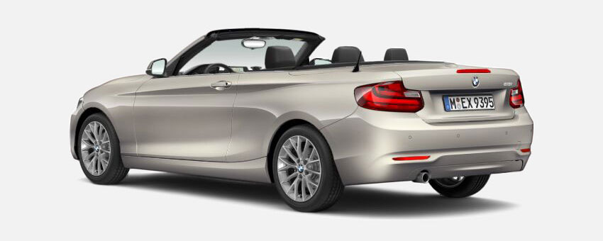 BMW 2 Series car in Moonlight Silver colour