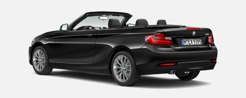 BMW 2 Series car in Jet Black colour