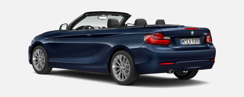 BMW 2 Series car in Deep Sea Blue colour