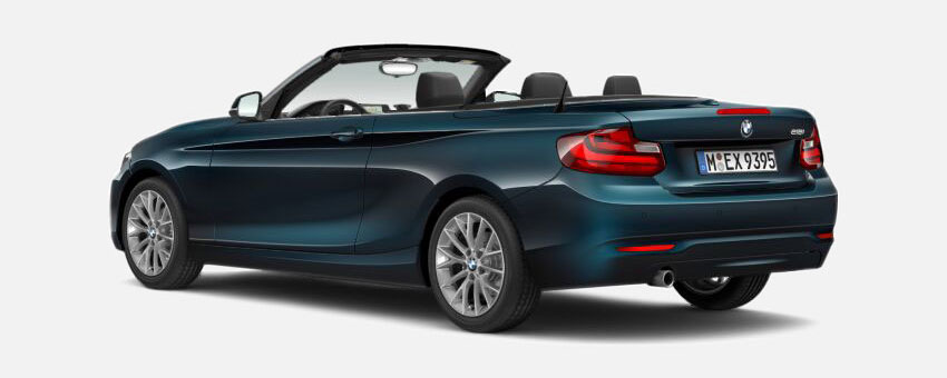 BMW 2 Series car in Midnight Blue colour