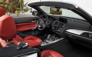 Photograph of the interior of a BMW 2 Series car