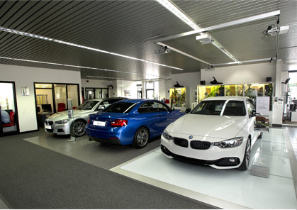 BMW in showroom