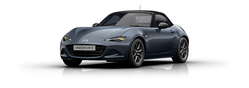 Mazda MX-5 car in Blue Reflex colour