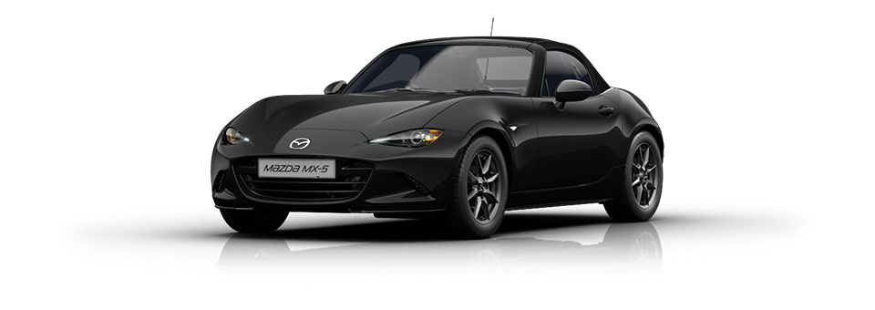 Mazda MX-5 car in Jet Black colour