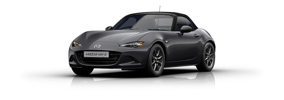 Mazda MX-5 car in Meteor Grey colour