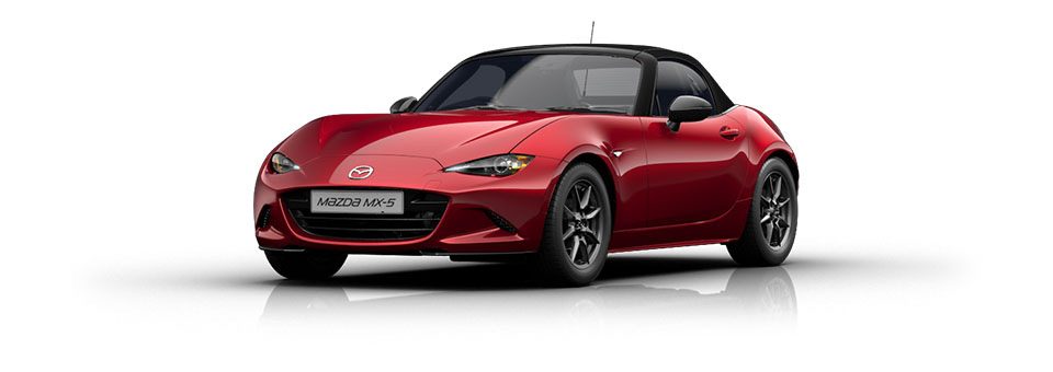 Mazda MX-5 car in Soul Red colour