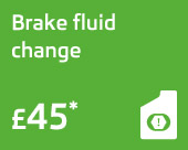 Brake fluid change only £45