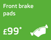 Front brake pads only £99