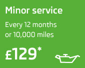 Minor service only £129