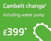 Cambelt change including water pump only £399