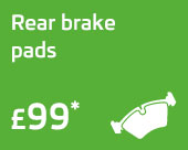 Rear brake pads only £99