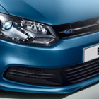 The Volkwagen Polo front lights and grill