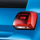 The Volkwagen Polo tail lights