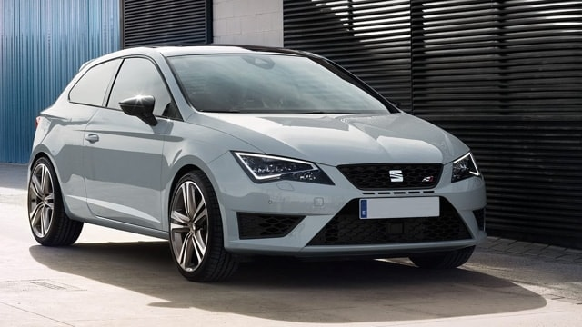 Photo of a white SEAT Leon Cupra