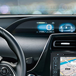 Toyota prius heads up display