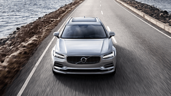 Front view of a Volvo V90